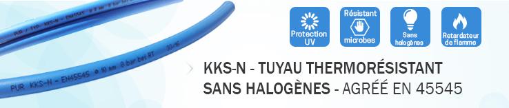 KKS-N - Tuyau PU thermorésistant - normalisé EN 45545